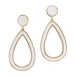 Michelle McDowell White Atmore Earrings