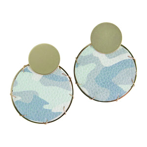 MICHELLE MCDOWELL LASSEN CAMO EARRINGS