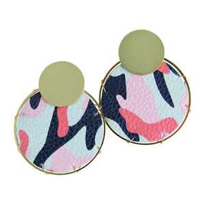 MICHELLE MCDOWELL LASSEN MULTI CAMO EARRINGS
