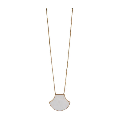 MICHELLE MCDOWELL COLMAR NECKLACE WHITE
