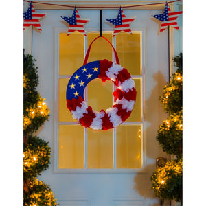 EVERGREEN PATRIOTIC WREATH DOOR DECOR