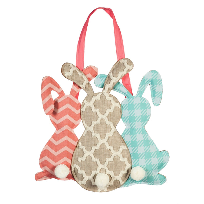 EVERGREEN SP20 PATTERN BUNNY DOOR DECOR