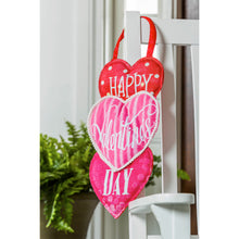 Load image into Gallery viewer, Evergreen Valentine's Heart Trio Door Décor