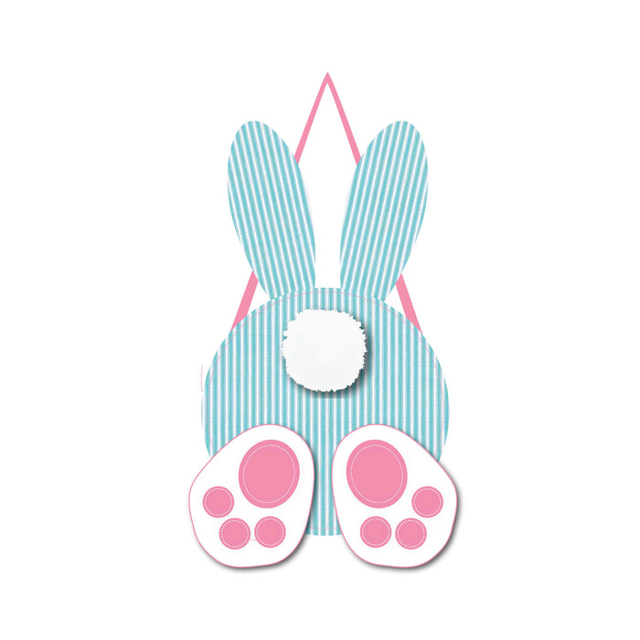 Evergreen Seersucker Bunny Door Décor