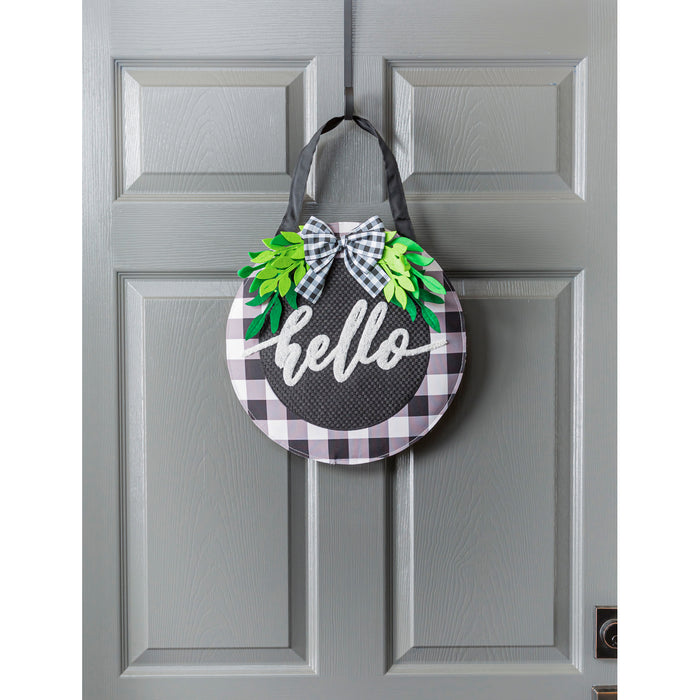 Evergreen Hello Foliage Door Decor