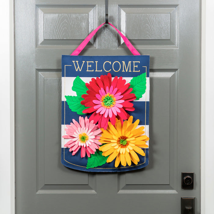 Evergreen Gerbera Welcome Door Decor