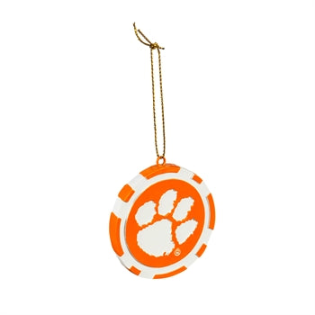 Evergreen Clemson University Game Chip Ornament
