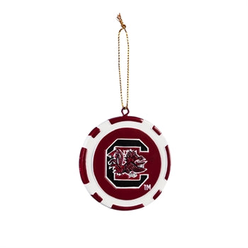 Evergreen University of South Carolina Game Chip Ornament