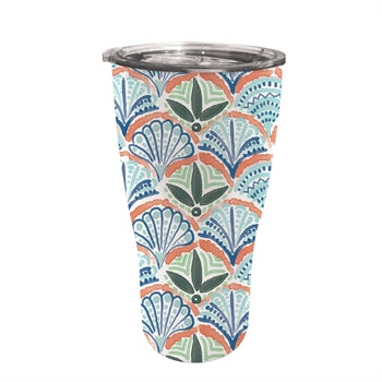 Evergreen 17 oz. Fan Mosaic Double Wall Stainless Steel Cup