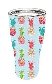 Evergreen Double Wall Pineapple Party Stainless Steel Refresh Beverage Cup
