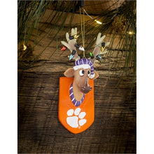 Load image into Gallery viewer, Evergreen Clemson University Reindeer Resin Ornament