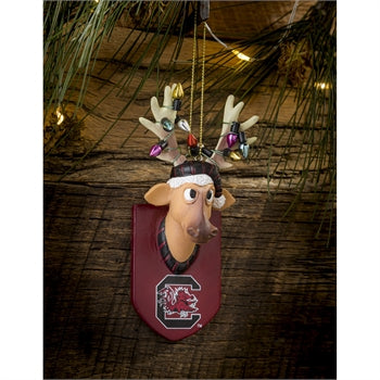 Evergreen University of South Carolina Reindeer Resin Ornament