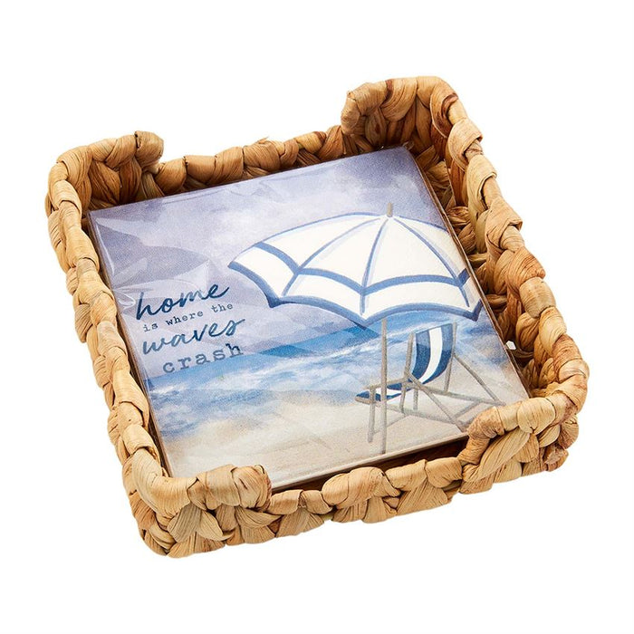 Mud Pie Beach Chair Napkin Basket Set