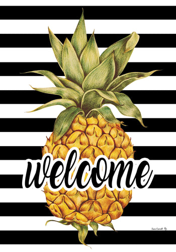 CUSTOM DECOR SP20 WELCOME PINEAPPLE GARDEN FLAG