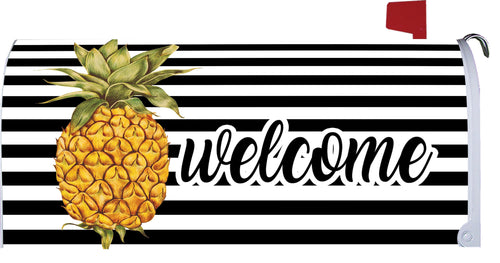 CUSTOM DECOR SP20 WELCOME PINEAPPLE MAILBOX COVER