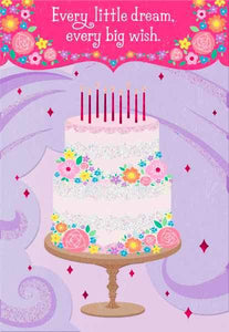 HALLMARK PINK WITH BIRTHDAY CAKE BIRTHDAY CARD
