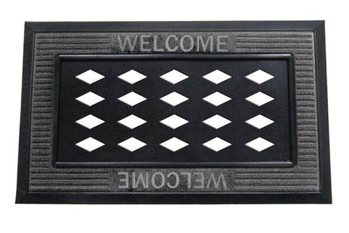 EVERGREEN WELCOME SASSAFRAS TRAY GREY