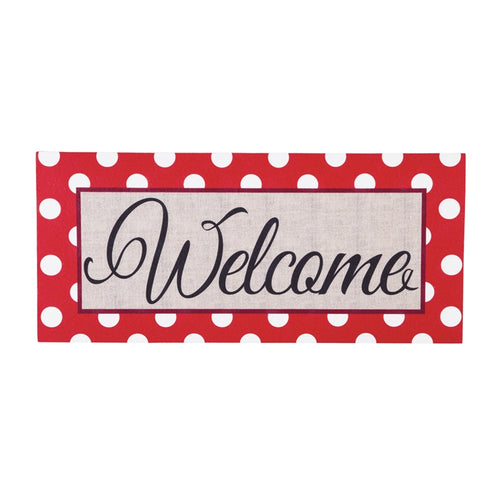 EVERGREEN POLKA-DOT WELCOME SASSAFRAS