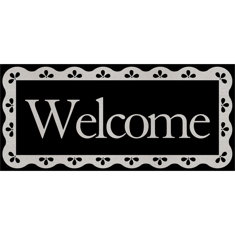 EVERGREEN SCALLOPED WELCOME SASSAFRAS SWITCH MAT