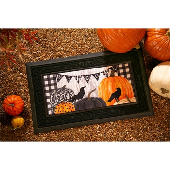 Evergreen Pumpkins and Crows Sassafras Switch Mat