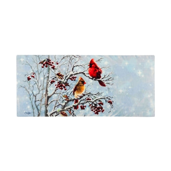 Evergreen Winter Cardinals Friends Sassafras Switch Mat