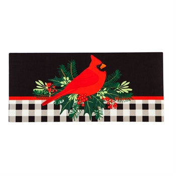 Evergreen Merry Christmas Cardinal Sassafras Switch Mat