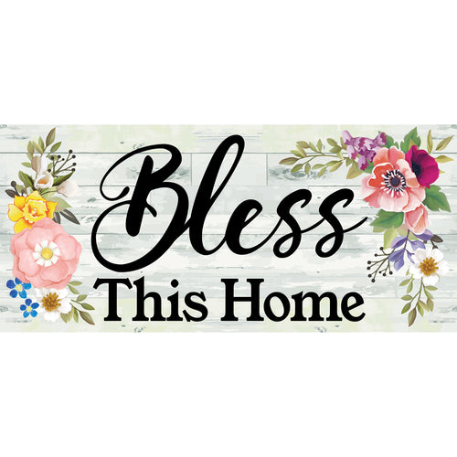 Evergreen Shiplap Floral Bless This Home Sassafras Switch Mat