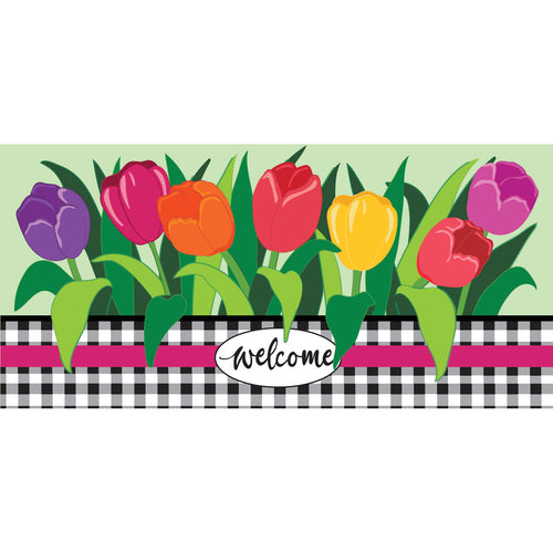 Evergreen Welcome Spring Tulips Sassafras Switch Mats