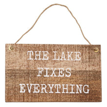 Load image into Gallery viewer, Mud Pie Wood Hanger Lake Plaque
