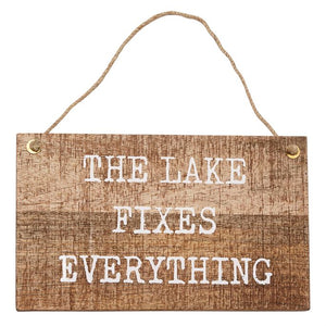 Mud Pie Wood Hanger Lake Plaque