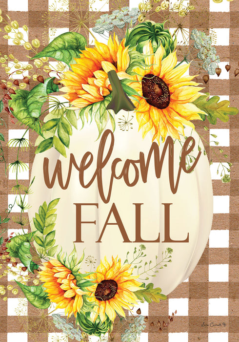 Custom Décor Sunflower Pumpkin House Flag