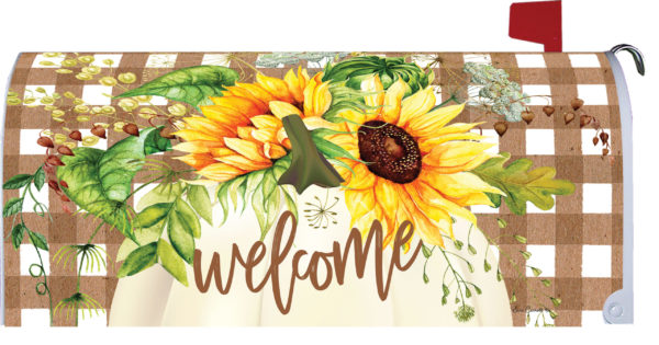 Custom Décor Sunflower Pumpkin Mailbox Cover