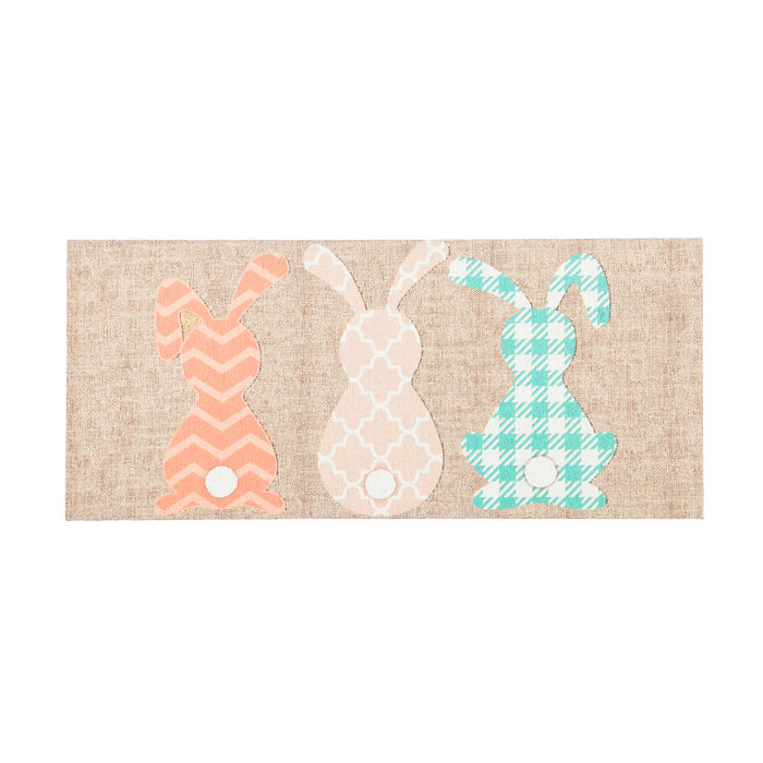Evergreen Pattern Bunnies Burlap Sassafras Switch Mat