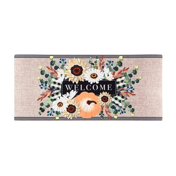 Evergreen Autumn Floral Swag Burlap Sassafras Switch Mat