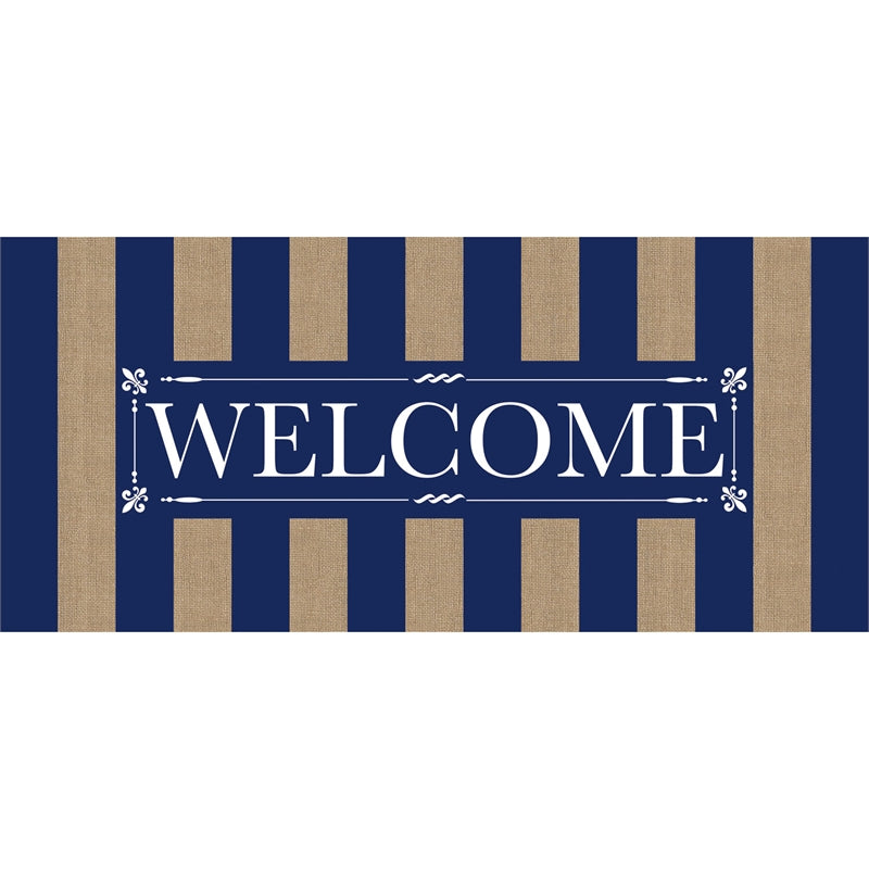EVERGREEN SP20 NAVY STRIPE WELCOME SASSAFRAS SWITCH MAT