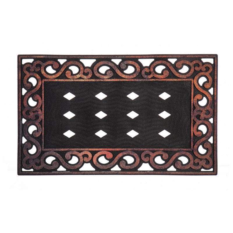 EVERGREEN VARIEGATED SCROLL SASSAFRAS MAT TRAY
