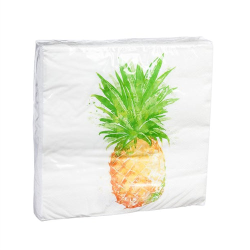 Evergreen Golden Pineapple Luncheon Napkins