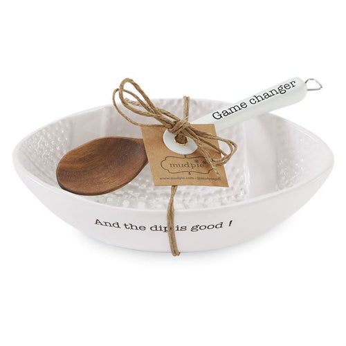 Mud Pie Dip Is Good Bowl and Spoon Set