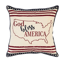 Load image into Gallery viewer, Evergreen Bless America Pillow