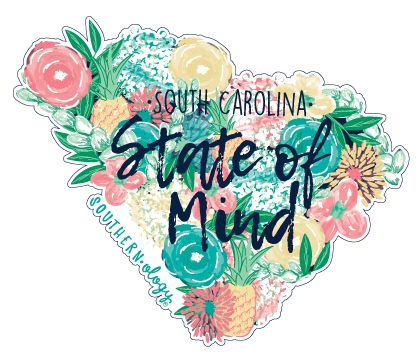 Southernology South Carolina State of Mind Decal