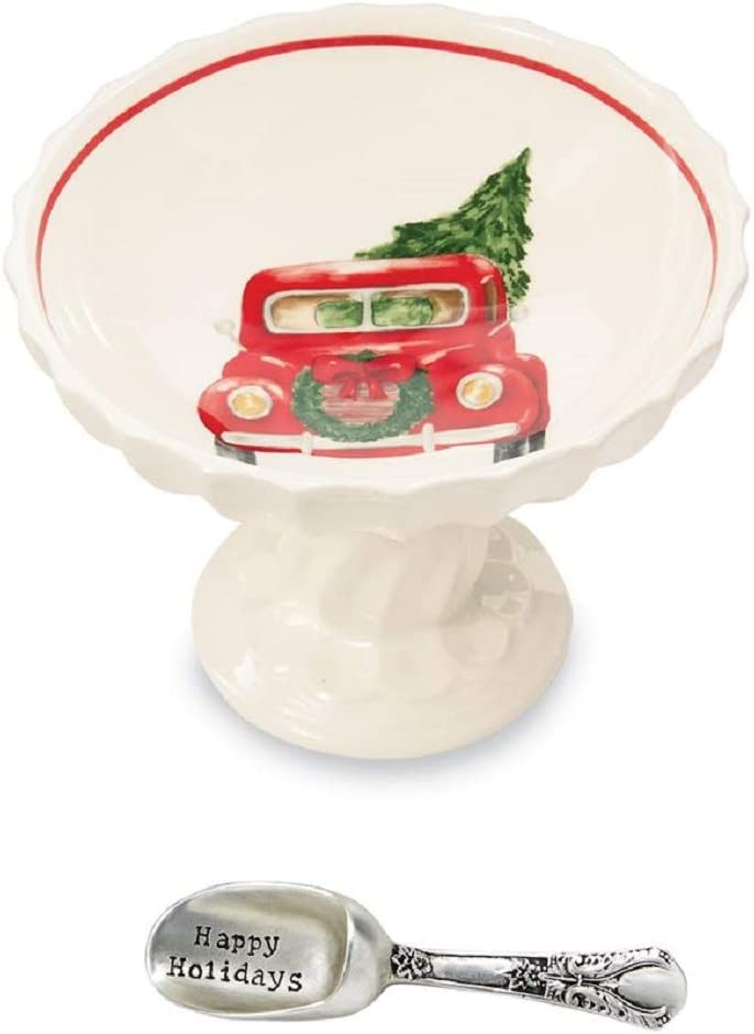 Mud Pie Christmas Truck Pedestal Dip Set