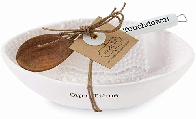 Mud Pie Dip Off Time Bowl and Spoon Set
