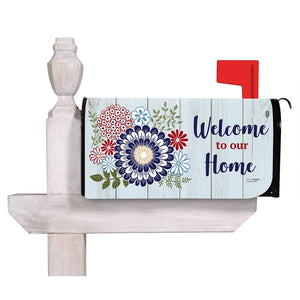 EVERGREEN AMERICAN FLORAL MAILBOX COVER