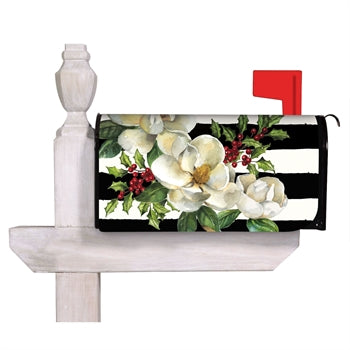Evergreen Holiday Magnolias Mailbox Cover