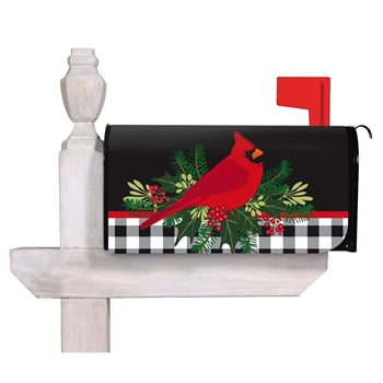 Evergreen Merry Christmas Cardinal Mailbox Cover