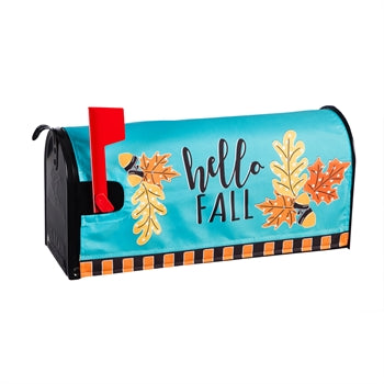 Evergreen Hello Fall Leaves Mailbox Cover