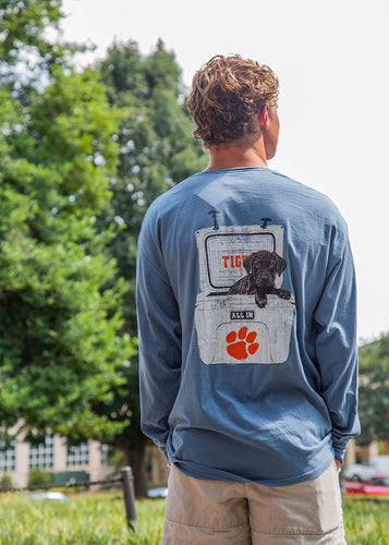 Tigertown Graphics Clemson University Wrangler Long Sleeve T-shirt