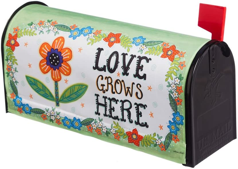 Evergreen Love Grows Here Mailbox Cover