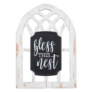 BROWNLOW GIFTS BLESS THIS NEST ARCHED WINDOW SIGN