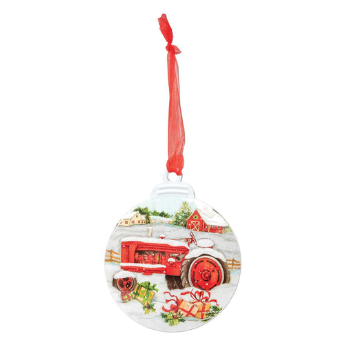 Brownlow Gifts Tractor Christmas Ornament
